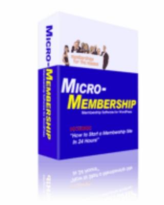 Product picture Micro-Membership Plug-In - Wordpress