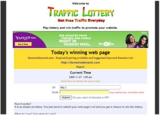 Product picture Traffic Lottery - Script