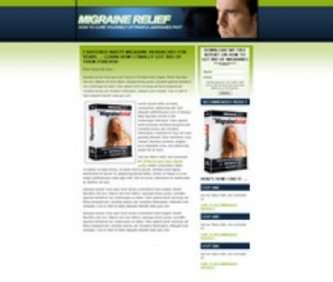 Product picture Migraine Landing Page Template