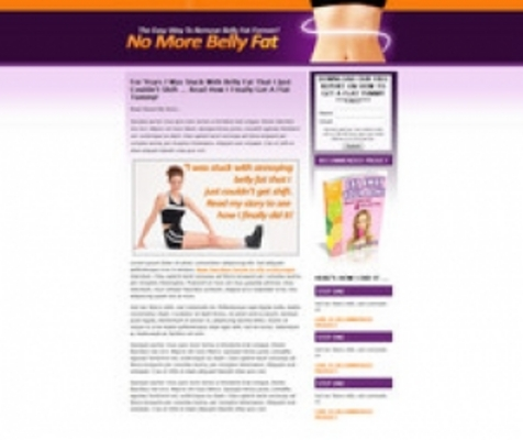 Product picture Belly Fat Landing Page Template