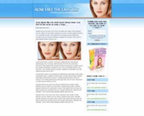 Product picture Acne Landing Page Template