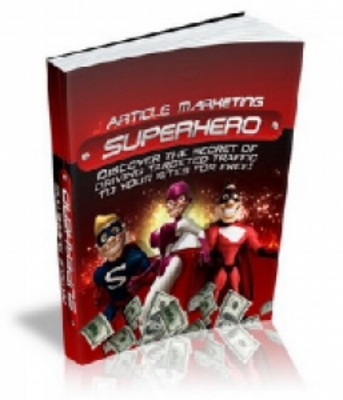 Product picture Article Marketing Superhero Ebook