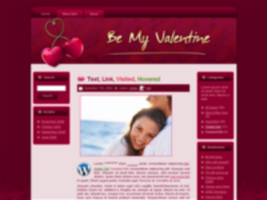 Product picture 3 Valentines Day HTML & WP Templates Graphics
